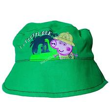 Official Licensed Peppa Pig Boys George Pig Dino Park Summer Bucket Hat Age 1-6