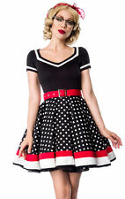 50er Jahre Pin Up Vintage Rockabilly Kleid Tanzkleid Retrokleid / Petticoat Rock