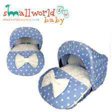 Personalised Blue Star And Fur/Fleece Car Seat Footmuff Cosytoes With Hood