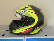 TAKACHI TK41 F FRONTIER BLK/YEL/RED MOTORCYCLE LARGE FULL FACE HELMET £42.50