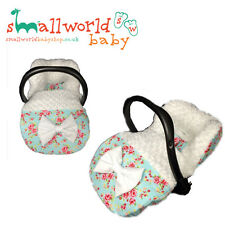 Personalised Vintage Floral And Fur/Fleece Car Seat Footmuff Cosytoes