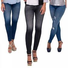 BLACK BLUE OR RIPPED STRETCH CARESSE JEANS SKINNY JEGGINGS  14/16