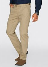 Herren Chino Hose Regular Fit Straight, 165953 in Beige