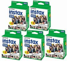 Bundle 5 packs of 20 Fujifilm Instax Wide format Film (100 photos) for Fuji I...