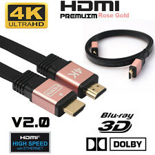 1-10M Premium HDMI Kabel V2.0 High Speed 3D Ultra HD 4K 3D ARC FULL HD Ethernet