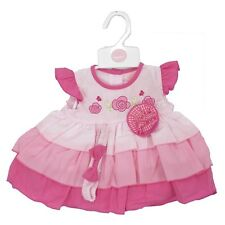 Baby Girl Summer Party Dress headband Knickers Set Outfit Pink Reborn NB-6M