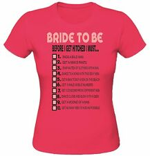 Hen  Ladies T-shirt, 10 Dares for  the Bride, put a name on the back for FREE.