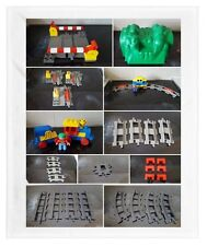 duplo tain track black grey battery train junction point crossing tunnel support