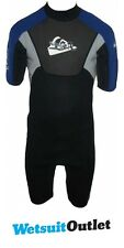 Quiksilver Syncro 2mm Shorty Wetsuit SY65AS Black/Blue/Grey