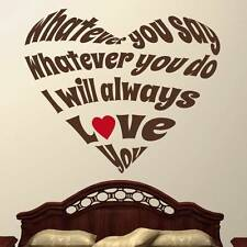 I Will Always Love You - Wall Decal Quote Sticker lounge kitchen dining room
