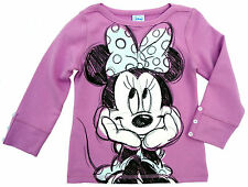 NEU! Disney Minnie Mouse Stretch Sweatshirt Pullover Pulli lila 98 104 116 128