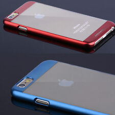 Luxury Ultra thin Electroplate Metal Clear back case cover for iPhone5/6/6s/Plus