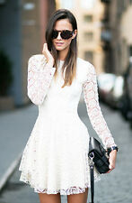 H&M Trend Lace Circular Long Sleeve Dress UK 6 8 10 12 14 16 US 2 4 6 8 10 12