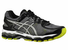 NEW MENS ASICS GEL-KAYANO 22 RUNNING SHOES TRAINERS CHARCOAL / SILVER / LIME