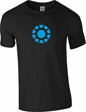 Iron Man T Shirt Arc Reactor Tony Stark Marvel Superhero Avengers Civil War Top