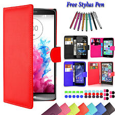 Magnetic Leather Flip Wallet Book Case Cover For Xperia iPhone Samsung LG Phones