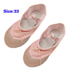 Girls Pink Ballet Dance Dancing Soft Shoes Size 1.5 FK