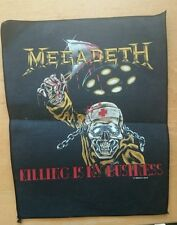 Megadeth killing is my business back patch brand new unused