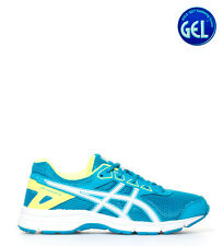 Asics - Zapatillas de running Gel Galaxy 9 Gs azul turquesa, blanco, amarillo...