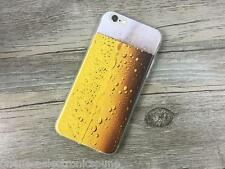 Beer Glass Print Soft Back Cover For iPhone 5s 6/6s 6Plus Excellent Prints