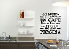Vinilo decorativo frases para cocina stickers pegatinas paredes decoración decal