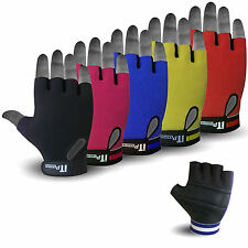 Summer Cycling Gloves Fingerless Leather Mitts Street Cycle Gloves 5 COLORS