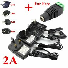 DC 12V 2A AC Adapter Power Supply Transformer 5050 5630 3528 LED Strip Light Top