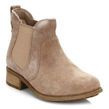 UGG Womens Boots Caramel Bonham Chelsea Pull On Brown Leather Casual Shoes