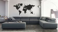 Vinilo decorativo mapa mundi stickers decals pegatinas paredes adhesivos calcas