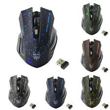 2,4 GHz 1600dpi USB Wireless Gaming Mouse con filo per PC portatile MAC Mice