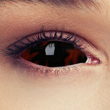 SCLERA Red Black Contact Lenses Lentilles Kontaktlinse Halloween Costume Cosplay