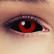 SCLERA Black Red Contact Lenses Lentilles Kontaktlinse Halloween Costume Cosplay