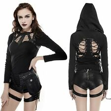 PUNK RAVE Riot Girl Shooter Shorts Leder Hot Pants CYBER GOTHIC VISUAL KEI