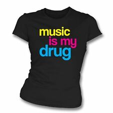Music Is My Drug Womens Slim Fit T-Shirt