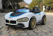TOP KIDS RIDE ON MASERATI STYLE ELECTRIC CHILDREN 12V BATTERY REMOTE CONTROL CAR