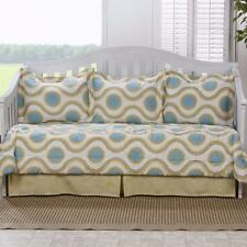 Modern Chic Contemporary Geometric Blue Gold Daybed Comforter Set