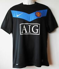 Manchester Utd Football Shirt Vintage 2009-10 Away Strip Official Authentic M