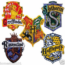 Harry Potter Patch House Badge Crest Embroidered Iron Sew On Hogwarts Gryffindor