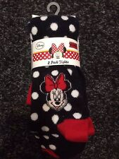 BNWT Disney - Minnie Mouse Tights x 2. Age 18 Months - 6 Years. Navy & Stripes