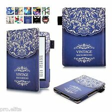"Designer Book Case Cover For Amazon Kindle E Reader 6"" 8th Generation 2016 Vintg"