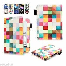 "Designer Book Case Cover For Amazon Kindle E Reader 6"" 8th Generation 2016 Squar"