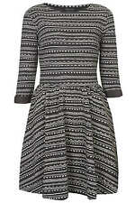Topshop Sweat Aztec Print Skater Dress UK 8 10 12 14 36 38 40 42 US 4 6 8 10 NWT