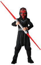 Child Boys Star Wars Darth Maul Fancy Dress Costume Kids Outfit