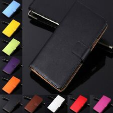 Luxury Genuine Real Leather Flip Case Wallet Cover For HTC One SV