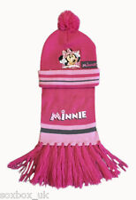 Kids Girls/Boys Disney Cars & Minnie Mouse Winter Hat & Scarf Set!