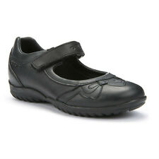 Geox J Shadow A Girls Black Leather School Shoe - 100% Positive Reviews