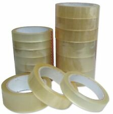 """Clear Tape Strong Rolls Packaging Parcel Packing Sellotape1"""" 24mm x66m Cellotape"""