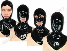 Latex mask - Fetisso - Latex mask with Collar Rubber mask Rubber Hood Mask