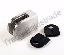 Stainless Steel Metal Glass Clamp for Balustrade Handrail with 10mm Rubber