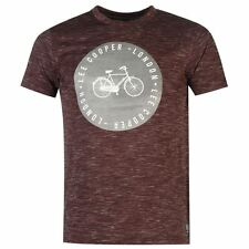Lee Cooper Mens Print T-Shirt Burgundy New With Tags